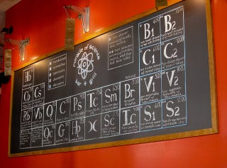 Illustration for article titled Geeky Restaurant Puts Their Menu Inside a Periodic Table
