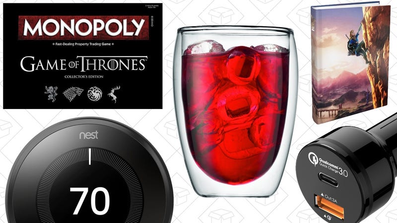 Illustration for article titled Today's Best Deals: Game of Thrones, Bodum Drinkware, Smart Thermostats, and More