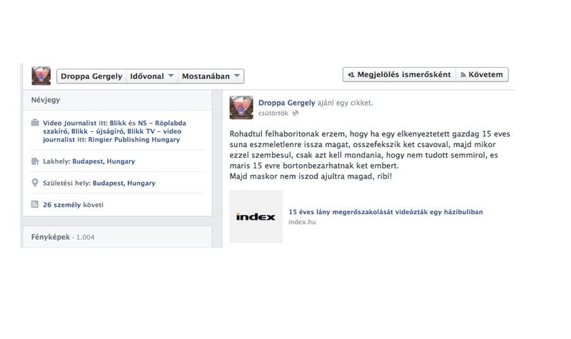 Illustration for article titled Sunázza és ribizi a megerőszakolt 15 éves lányt a Blikk munkatársa