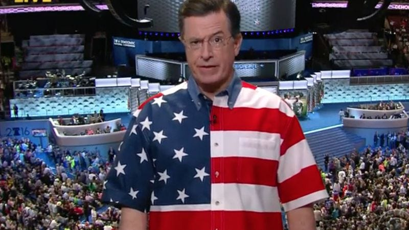 """Illustration for article titled """"Stephen Colbert"""" rises from """"Stephen Colbert's"""" ashes on The Late Show"""