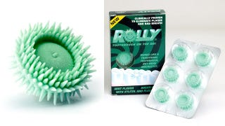Illustration for article titled Is Chewing This Spiky Rubber Disc Really As Effective As Brushing Your Teeth?