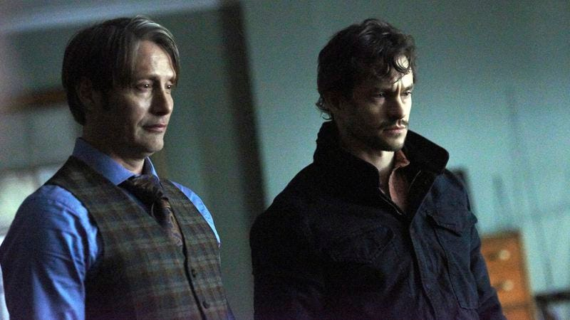 Mads Mikkelsen (left), Hugh Dancy (NBC)