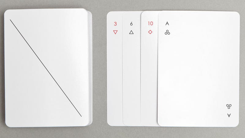 Illustration for article titled These Minimalist Cards Are Almost Too Pretty to Play With