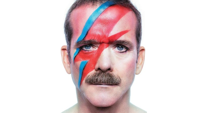 Illustration for article titled You cannot handle Chris Hadfield as David Bowie