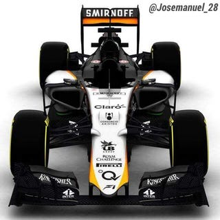 Illustration for article titled Leaked Force India VJM08