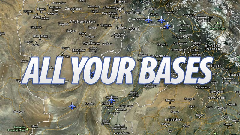 Illustration for article titled These Are All the US Drone Bases In Pakistan
