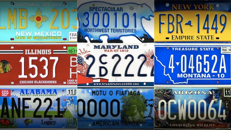 Illustration for article titled These are America's 12 best license plates