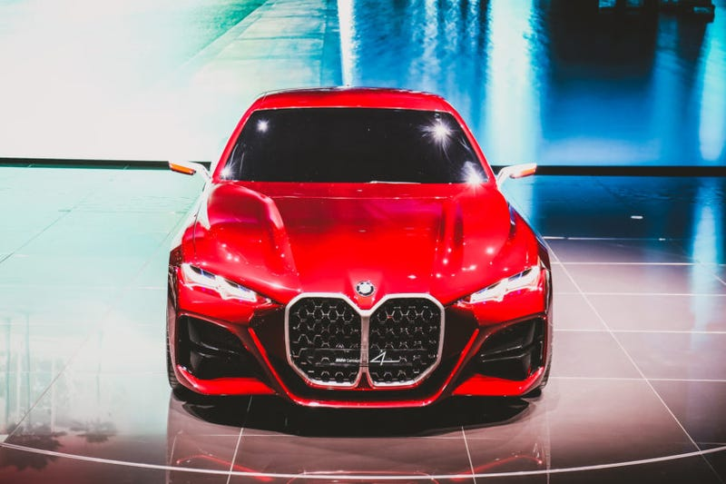 """Illustration for article titled """"According to BMW's press release, these new monster vertically-opposed grilles harken back to cars like the original BMW 328."""""""