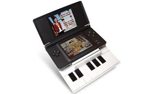 Illustration for article titled Nintendo DS Piano Attachment Now Lets You 'Hone' Your 'Musical Chops'