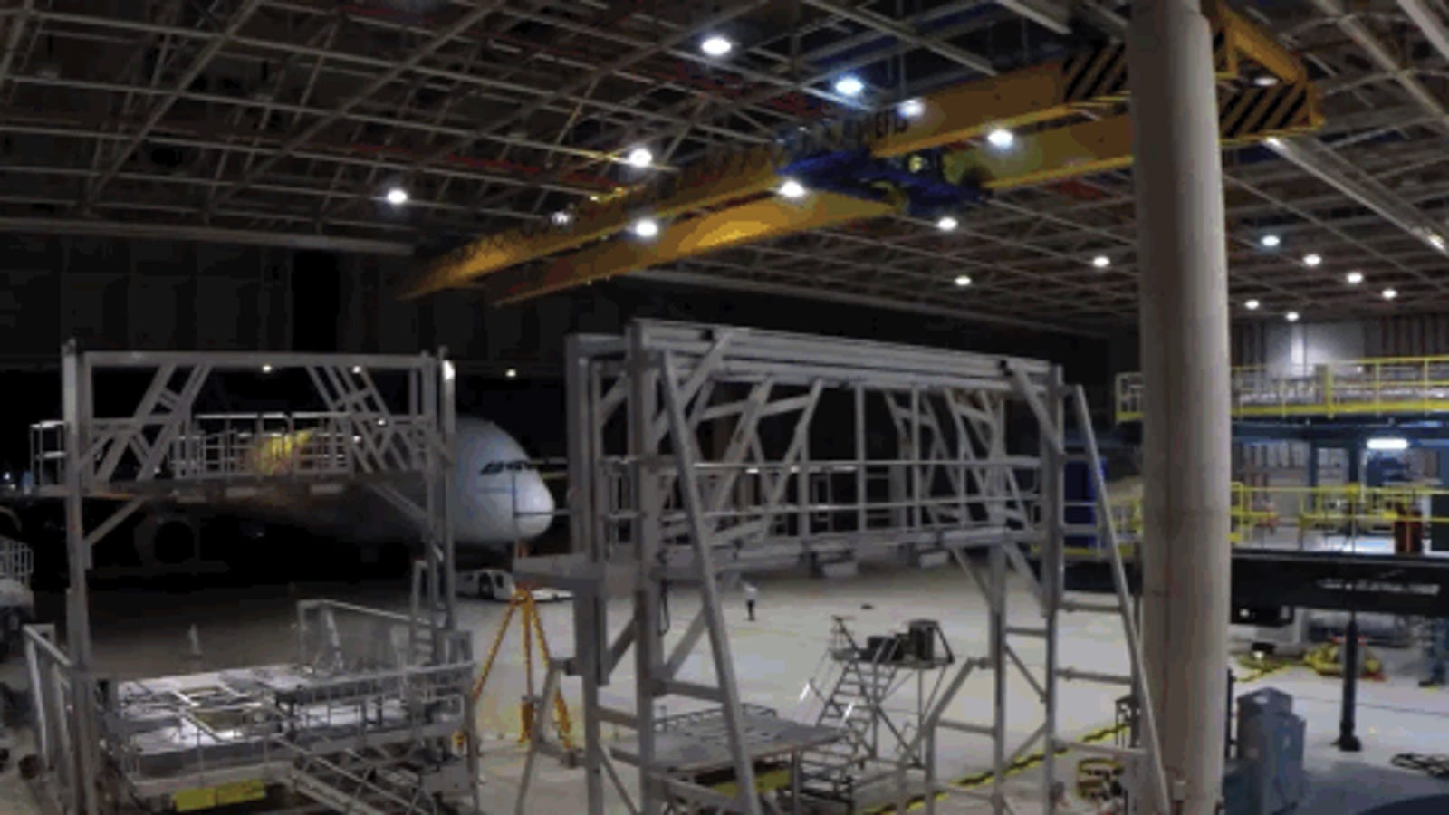 Este time-lapse muestra la puesta a punto del gigantesco Airbus A380
