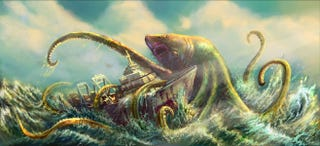 Illustration for article titled Here Comes Sharktopus!