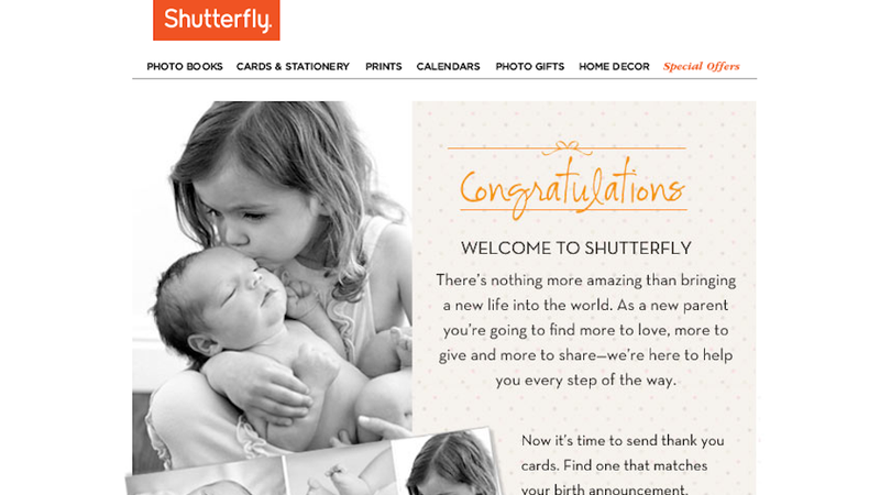 Illustration for article titled Shutterfly Apologizes for Congratulating You on Your Nonexistent Baby