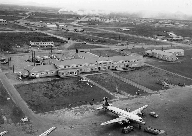 Terminal Hotel at Keflavik Airport, Iceland, 1955 (National Archives, Still Pictures Branch, RG 342-B, box 1458, Foreign Locations—Iceland)