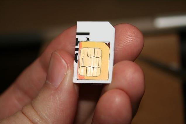 How To Make A Diy Micro Sim To Sim Adapter
