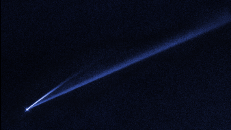 Active asteroid Gault, and its two new tails—a sign that the object is beginning to disintegrate.