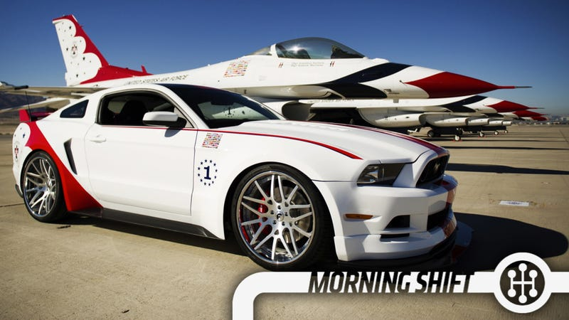 Illustration for article titled The First 2014 Mustang Looks Like A Thunderbird