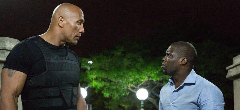 """Wait, we're gonna be in Jumanji?"" Dwayne Johnson and Kevin Hart in Central Intelligence (Image: Warner Bros.)"