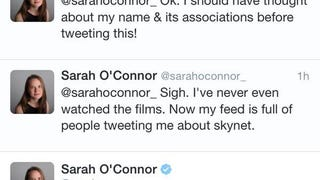 Sarah O'Connor tweets about the robot uprising...