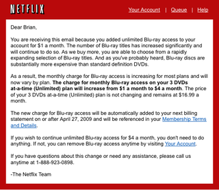 Illustration for article titled Netflix Raising Blu-ray Prices By 20% Starting April 27th