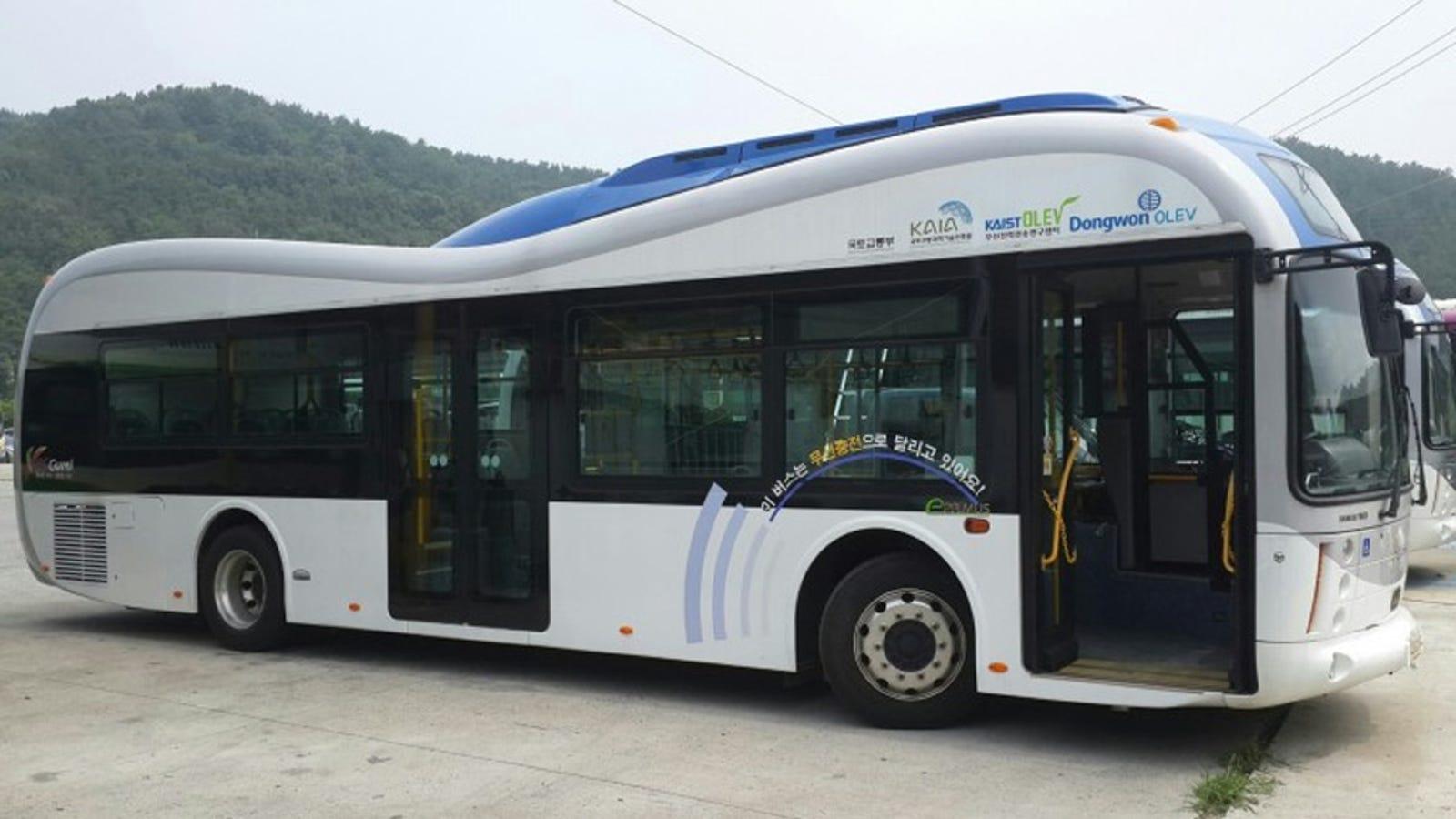 Estos nuevos autobuses eléctricos reciben su energía de la carretera