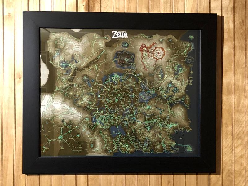 Zelda player turns map progress into wall art image credit kazoodac via imgur gumiabroncs Choice Image