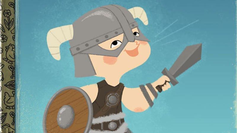 Illustration for article titled Video Games vs Children's Books Is About As Inappropriately Adorable As You'd Expect