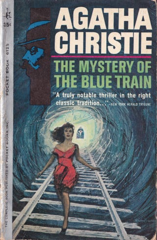 Illustration for article titled Vintage Train Paperbacks