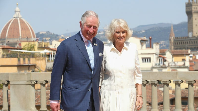 Prince Charles, Prince of Wales and Camilla, Duchess of Cornwall attend an event for the Italian Wool Industry and the Prince of Wales's Campaign for Wool at Palazzo Pitti, on April 3 in Florence. Images via Getty.