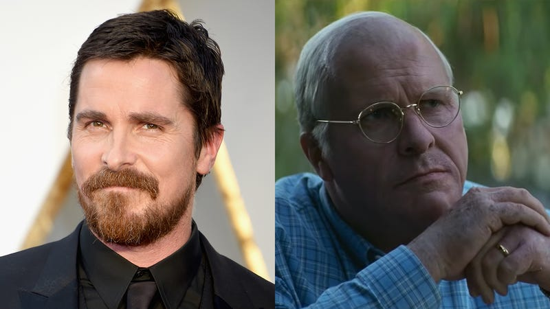 Illustration for article titled Amazing! A Shaken Christian Bale Has Revealed The Only Preparation He Did To Play Dick Cheney Was Eating A Caesar Salad That Immediately Made Him Bald And Fat