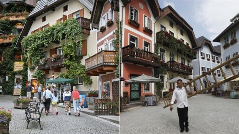 Illustration for article titled Chinese Real Estate Developers Successfully Cloned Entire Austrian Village