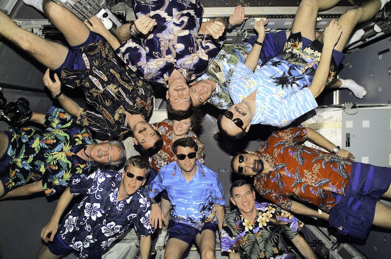 Illustration for article titled A Flock of Hawaiian Shirts Invaded the Space Station