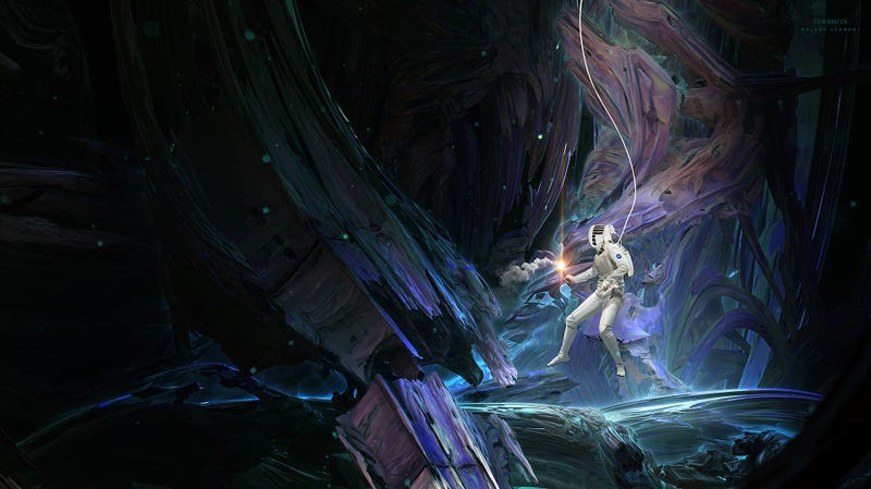 Illustration for article titled The Painted Caverns sat deep in the bowels of the icy moon