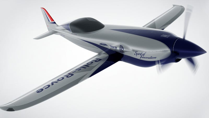 Illustration for article titled Rolls Royce Hired Formula E Engineers To Build A Really Fast Electric Plane