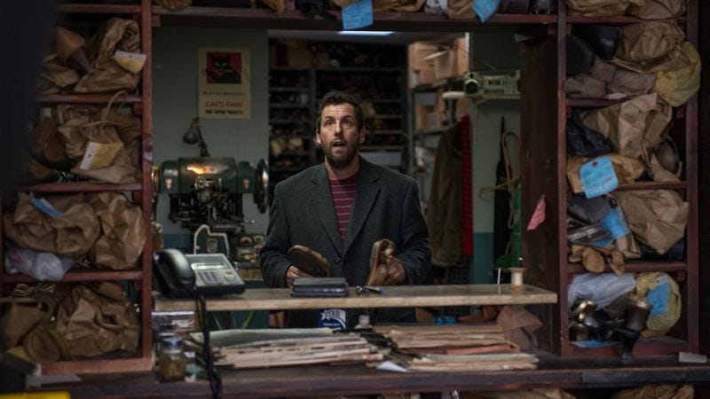 Illustration for article titled Despite its respected director, The Cobbler offers more noxious, lowbrow Adam Sandler