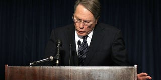 Wayne LaPierre at NRA press conference (Alex Wong/Getty Images)