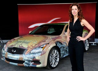 Illustration for article titled Infiniti G37 Anniversary Art Car Is Definitely Weird