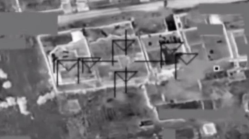 Illustration for article titled How Did This Airstrike Hit Six Areas Of A Single ISIS Compound At Once?