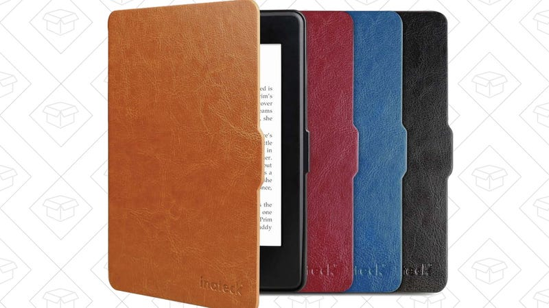 Inateck Leather Kindle Paperwhite Case, $7 with code 3RB8M3LN