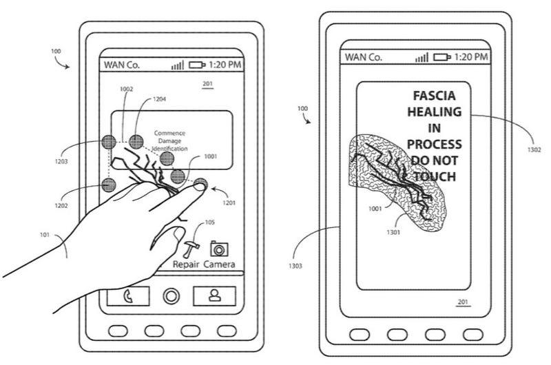 Motorola trabaja en una pantalla que se autorepara