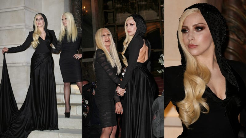 Illustration for article titled Lady Gaga and Donatella Versace Dress Up for Some Midnight Witchcraft