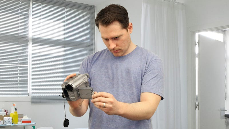 Illustration for article titled Man Filming Childbirth Picks Up Some B-Roll Of Wife's Vagina While Waiting For Baby To Crown