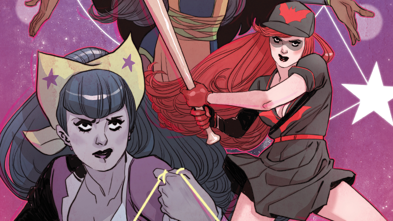Wonder Woman and Batwoman on the cover of Bombshells: United's last chapter.