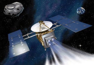 Illustration for article titled Japanese probe Hayabusa returns from space with a fistful of asteroid dust