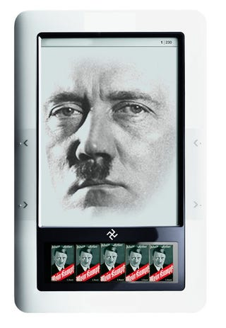 Illustration for article titled Ereaders Are a Nazi Scheme, and More Bizarre Theories From Ebooks' Sworn Enemies