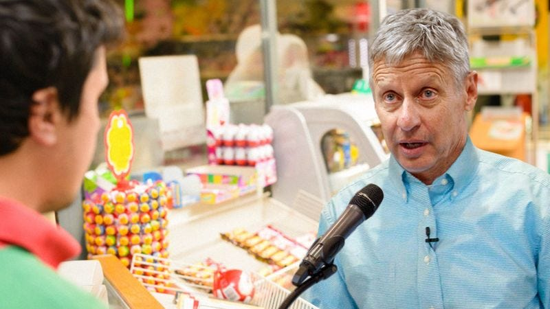 Entering The Fray: Gary Johnson Just Said His Name Over A Safeway Intercom