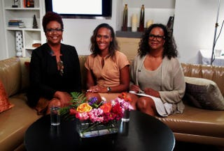 The Root Live host Harriette Cole, Prudential's Spring Lacy and Paula Rice of the Alzheimer's AssociationHarriette Cole Media