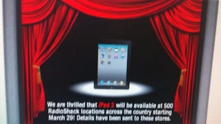 Illustration for article titled Your Best iPad 2 Bet Tomorrow: RadioShack