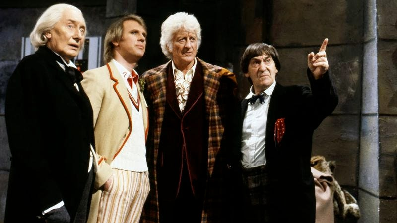 "Illustration for article titled Doctor Who (Classic): ""The Five Doctors"""