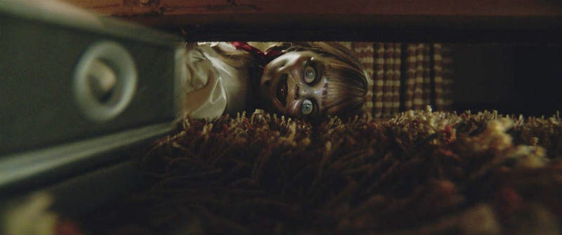 Annabelle Comes Home, and she'll be hiding under your bed tonight.