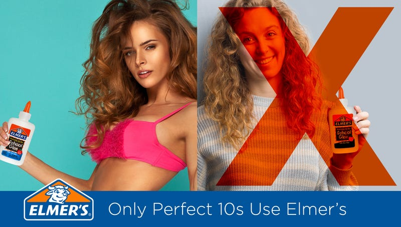 Unforced Error: Elmer's Glue Just Released An Extremely Body-Negative Series Of Ads As Part Of A New 'Only Perfect 10s Use Elmer's' Campaign